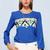 Colors Triangle Chiffon Shirt in Blue [FDBI00573] - PersunMall.com