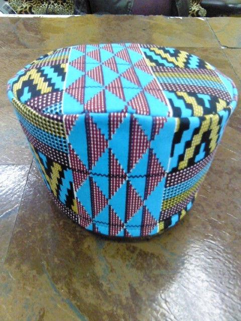 African Blue Kente Hat | eBay