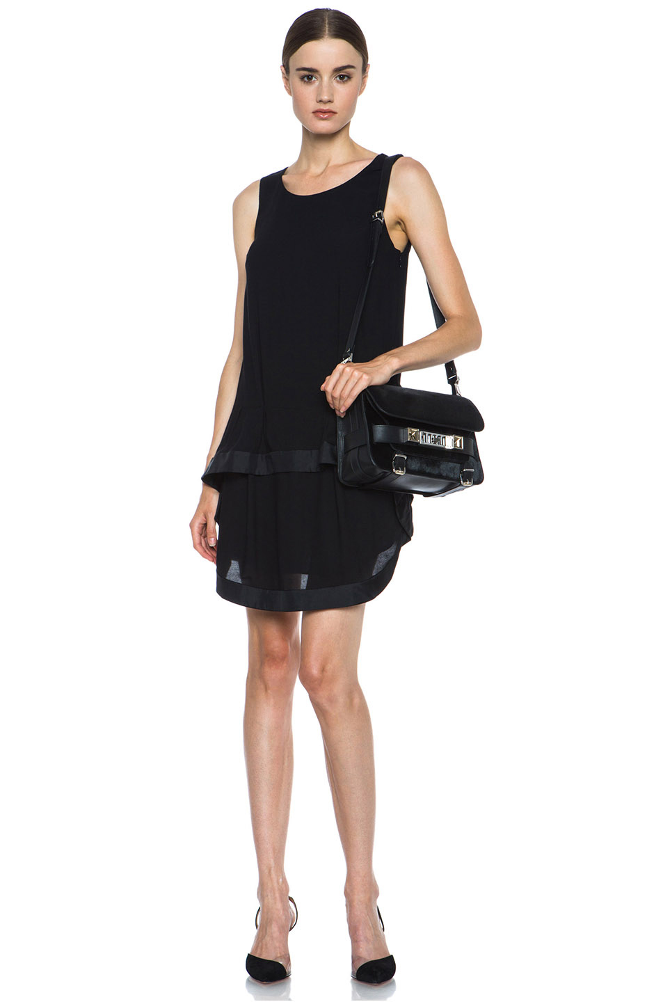 Proenza Schouler|Mini PS11 Classic Smooth Leather Shoulder Bag in Black