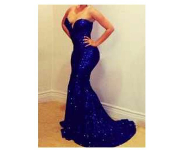 dress blue sequin mermaid dress