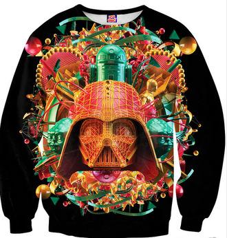 star wars darth vader crewneck printed sweater r2d2 awesomness bright