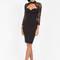 Lace 'n time bustier midi dress black - gojane.com