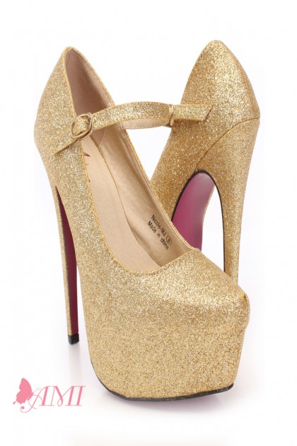 Cheap Gold Heels For Prom - Qu Heel