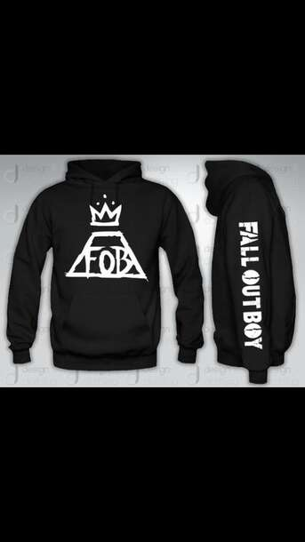 fall out boy band merch mens hoodie sweater