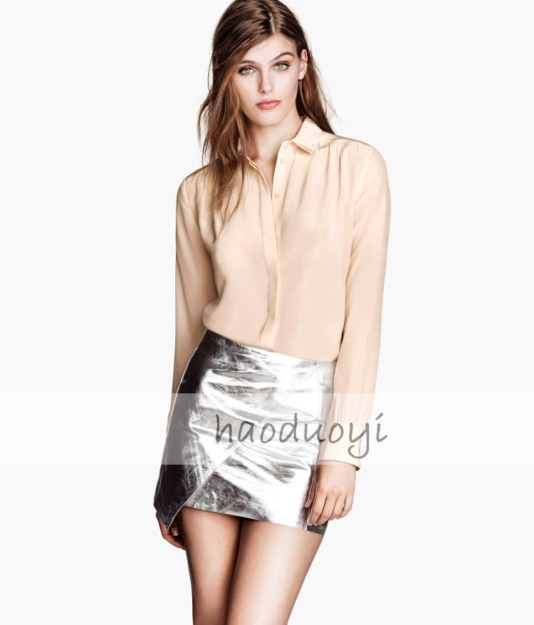 Aliexpress.com : Buy Free Shipping Metallic light sensitive coating PU leather skirts asymmetrical cut skirt from Reliable leather seat covers honda civic suppliers on ED FASHION