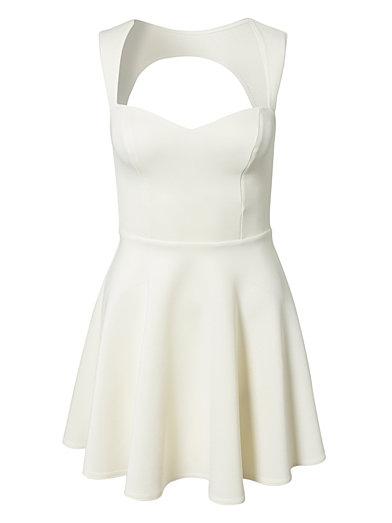 Keyhole Back Dress - Oneness - Vit - Festklänningar - Kläder - Kvinna - Nelly.com