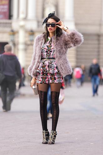 macademian girl jacket t-shirt shorts shoes belt bag sunglasses jewels