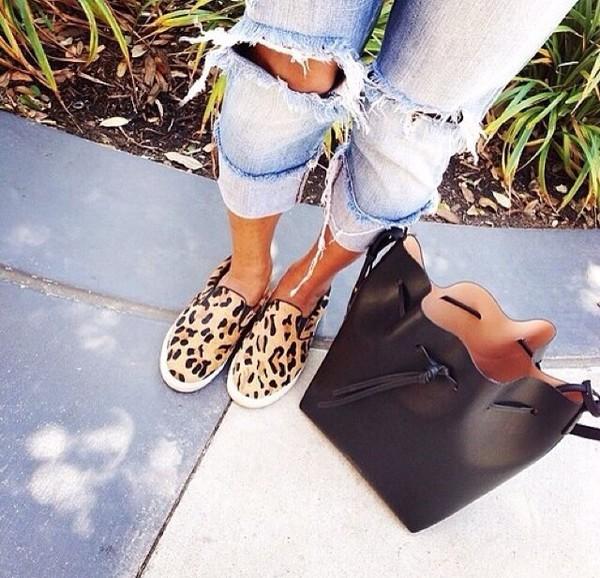shoes leopard print jeans bag leopard print shoes