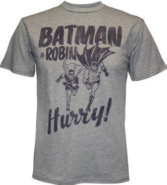 Amazon.com: Batman & Robin Hurry Men's T-Shirt by Junk Food, Small: Clothing