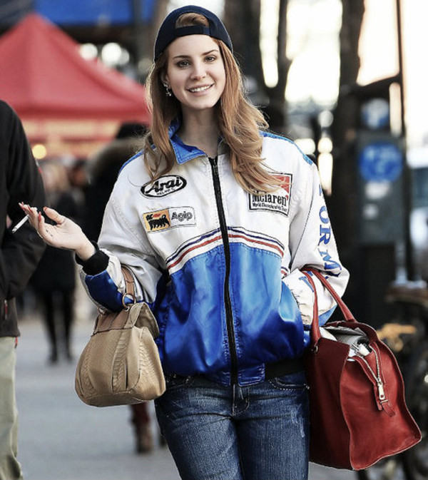 Formula 1 Mclaren Mercedes Benz White Red Jacket Free