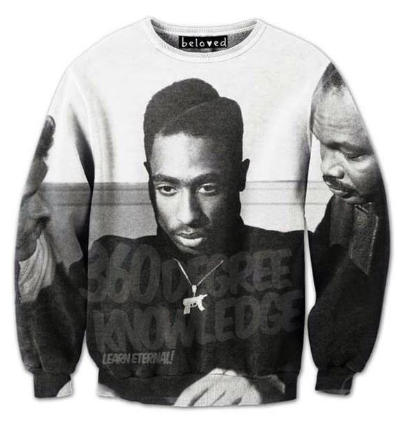 jacket urban sweater black and white