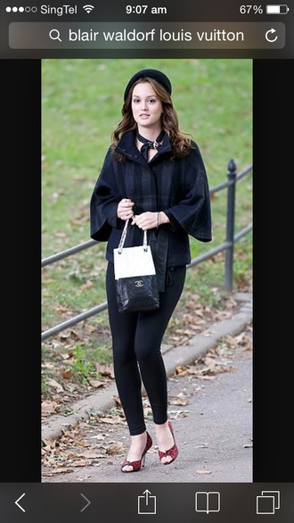 shoes gossip girl blair bag jacket tights