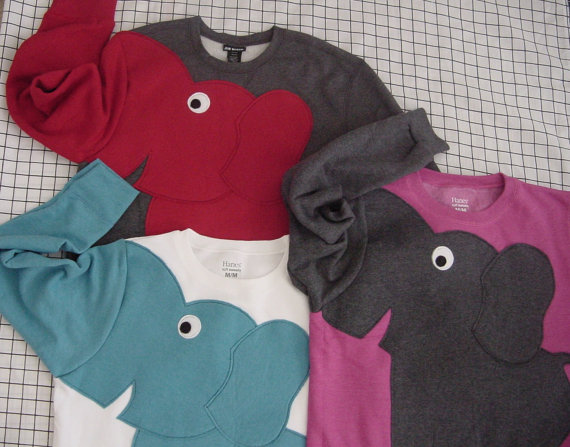 Trunk Sleeve Elephant sweatshirt CUSTOMiZE by CreativeCallipipper