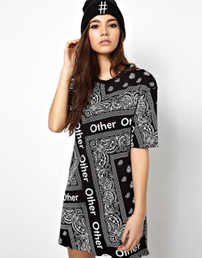 Other UK   Other Uk T-Shirt Dress In Bandana Print at ASOS