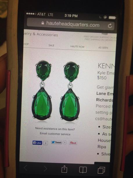 jewels kyle emerald earrings
