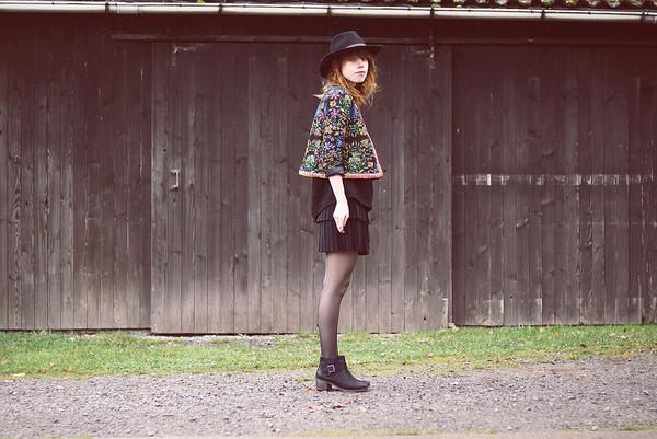 jacket romwe retro floral