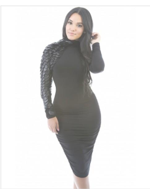 dress black black dress
