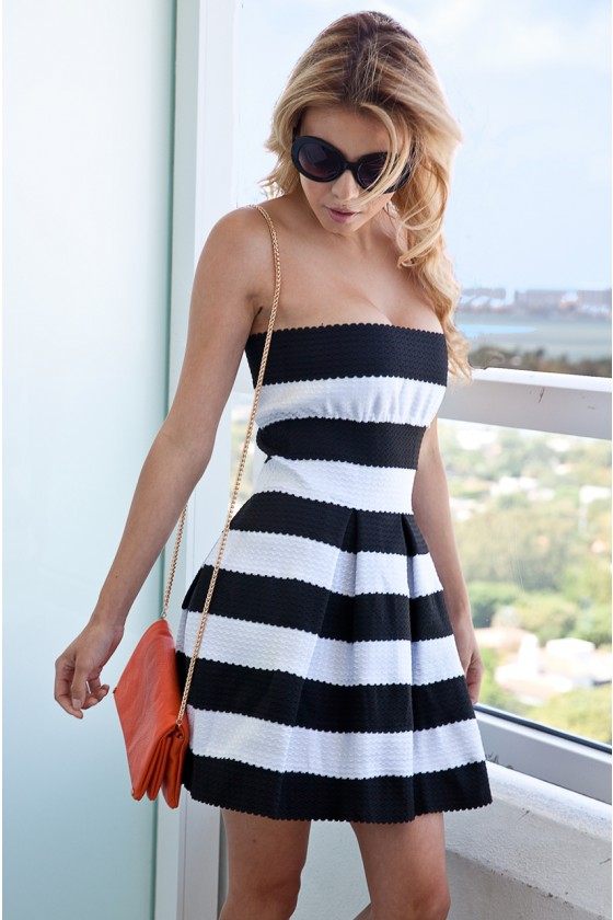Striped Banded Dress