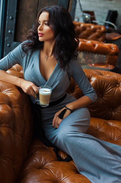 Dress Fall Outfits Women Lady Grey Silver Luxury Fashion Fall Outfits Lookbook Sexy