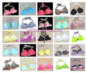 Victoria's Secret Bikini Top Gorgeous Push Up Halter Swimsuit New | eBay