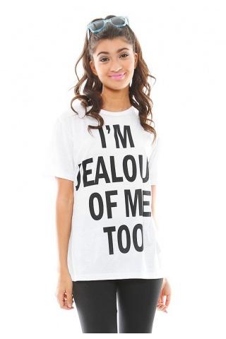 Fresh Tops Im Jealous Of Me Too T Shirt | SINGER22.com
