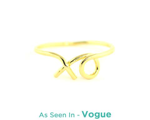 Wanderlust   Co - XO Gold Ring