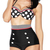 High Waisted Polka Dot Double-Breasted Spandex Sexy Halter Swimsuit : KissChic.com