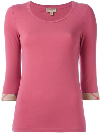 t-shirt shirt women spandex cotton purple pink top burberry pink top female sweatshirt