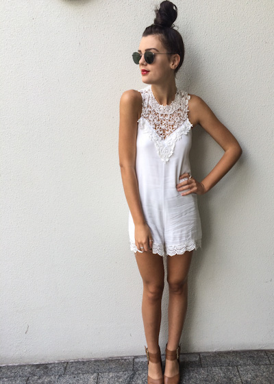 COURT SHOP playsuit