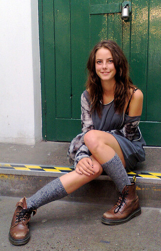 shoes skins effy stonem jacket dress drmartens kaya scodelario boots socks grunge top grey top grey dress