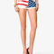 American flag print denim shorts | forever21 - 2027706228