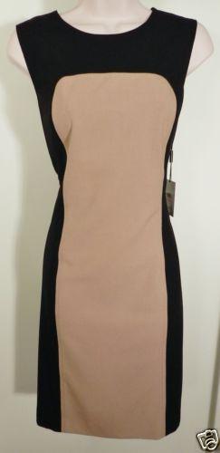 Calvin Klein Camel Black Dress Sz 8 | eBay