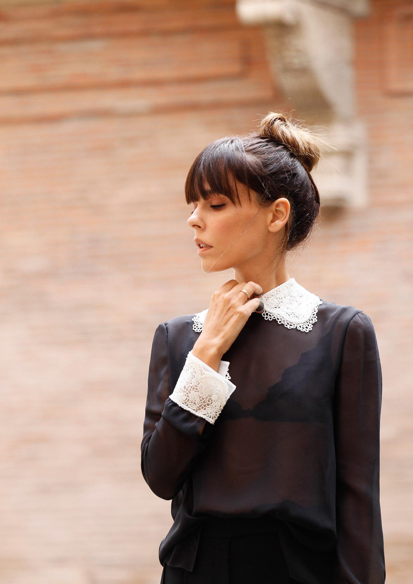Valentino-Blouse Col Claudine  Brodé - Departement Feminin
