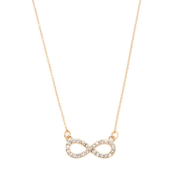 With Love From CA Pave Infinity Necklace - Polyvore