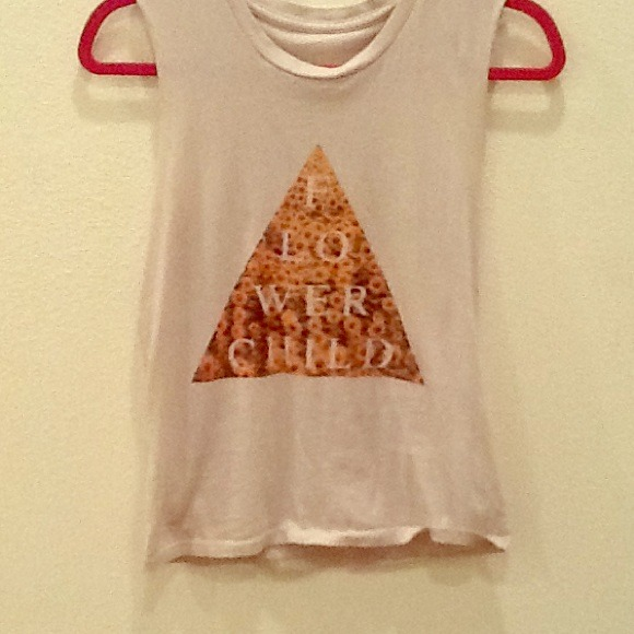 Brandy Melville - Triangle flower child graphic tee brandy Melville from Brooke's closet on Poshmark