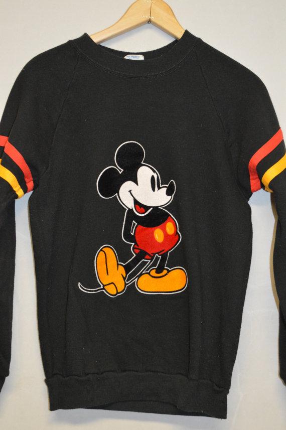 VINTAGE MICKEY MOUSE Sweatshirt SzM Disney by PaddleDownTraders