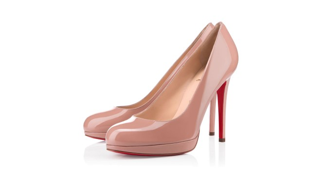 NEW SIMPLE PUMP PATENT 120 mm, Patent Leather, nude,  platforms, womens shoes