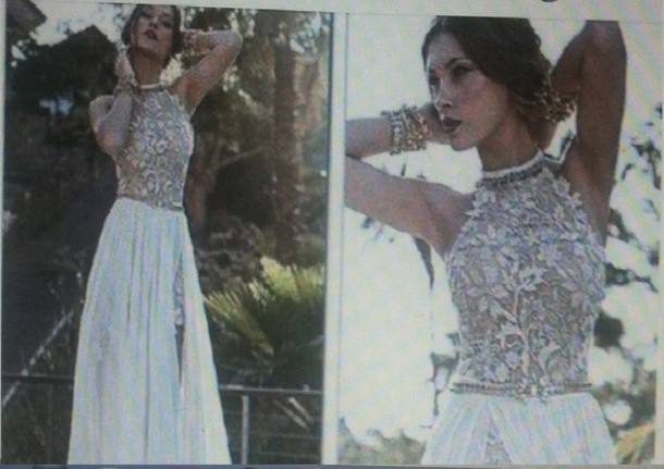 dress gorgeous gold and white dress classy prom dress prom gown