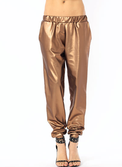 GJ | Faux Me Once Joggers $34.20 in BLACK BRONZE RED - Long Pants | GoJane.com