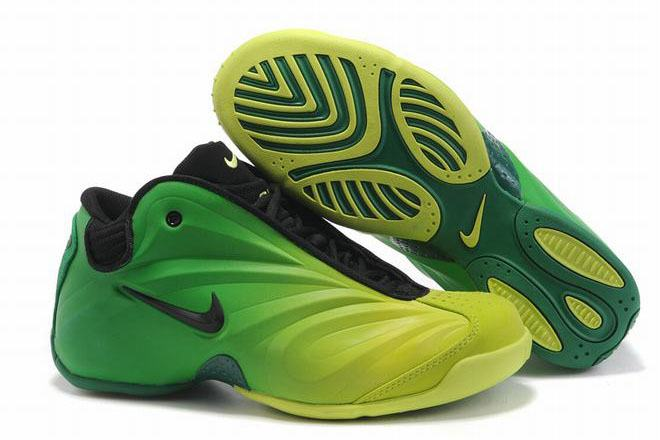 nike flightposite shoes green and black