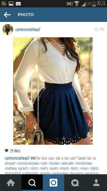 skirt navy blue skirt navy