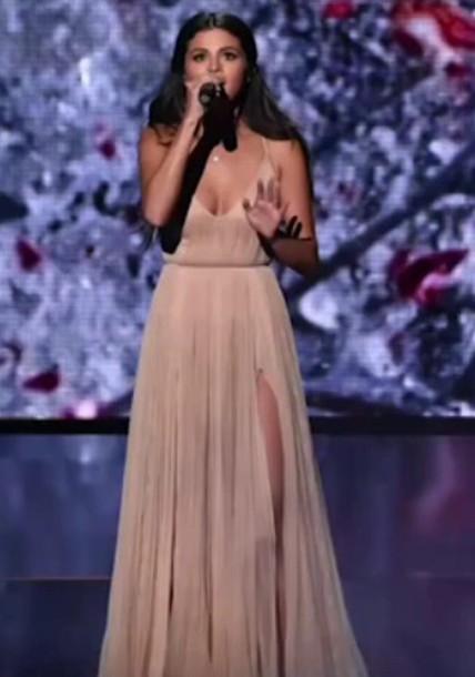 dress selena gomez selene gomez American Music Awards long dress