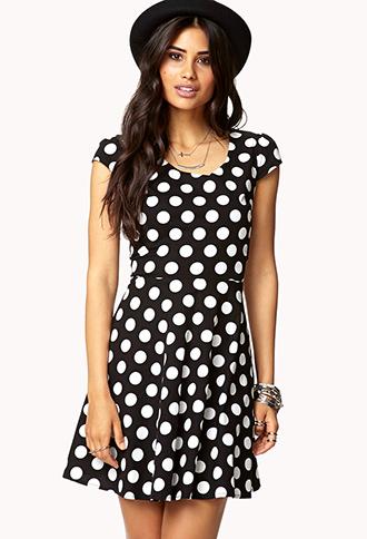 Polka Dot A-Line Dress | FOREVER 21 - 2077247565
