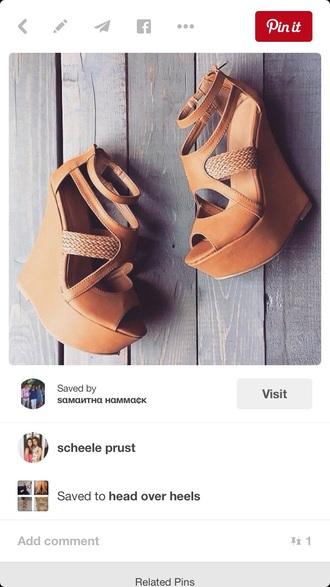 shoes heels wedges tan rope summer cute