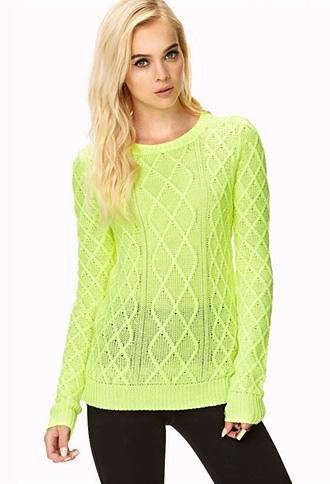 Jolt Open-Knit Sweater | FOREVER21 - 2031558217