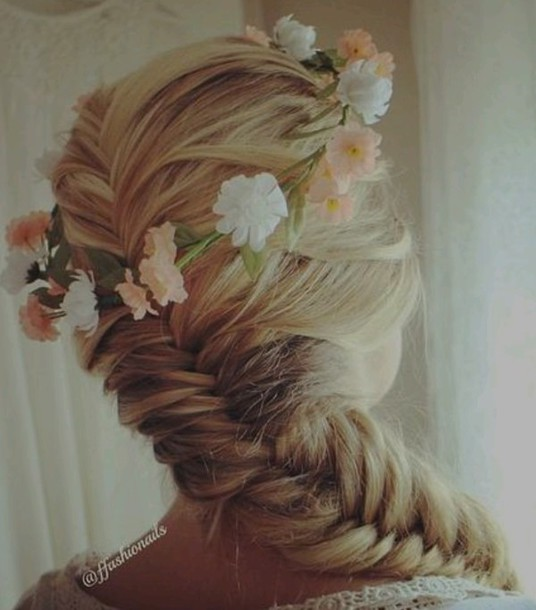 hair accessory flower crown braid hipster wedding haristyle hairstyles wedding hairstyles
