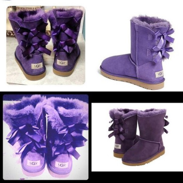 shoes dark purple ugg boots purple shoes bailey bow