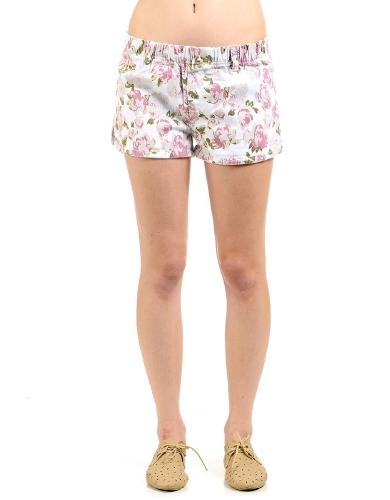 White Flowers Marguerite Floral Print Shorts | $10.50 | Cheap Shorts Fashion | MODdeals.com
