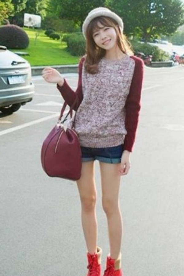 sweater warm sweater fashion sweater red sweater winter outfits