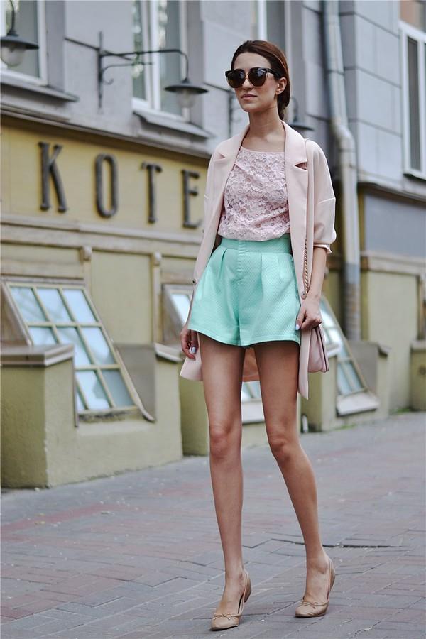 tina sizonova shorts bag jacket top